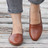 Brown Leather Shoes, Brown Shoes, Loafers, Flat Shoes, Slip Ons