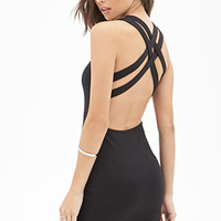 FOREVER 21 Lattice-Back Bodycon Dress