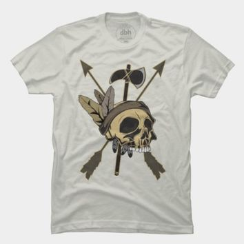 Indian Skull with Arrows and Feathers by ddtk