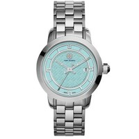 Tory Burch Stainless Steel/blue, 37 Mm
