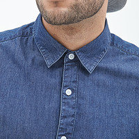 Classic Chambray Button-Down Shirt