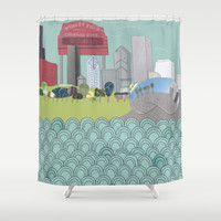 Chicago Shower Curtain by holliejane