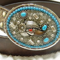 Women's Custom made Gemstone Belt Buckle