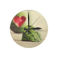 """Eat Your Heart Out"" Watermelon Clock from Zazzle.com"