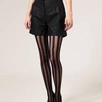 ASOS Solid Sheer Stripe Tights at ASOS