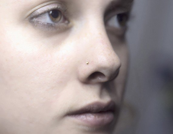 sterling silver nose ring small stud from nadinessra on etsy