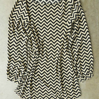 Everly Zig Zag Shift Dress [3090] - $43.00 : Vintage Inspired Clothing & Affordable Summer Dresses, deloom | Modern. Vintage. Crafted.