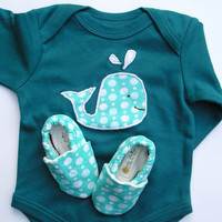 Organic Baby Gift Set Organic Blue One Piece with by GrowingUpWild