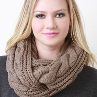 Crochet Braid Infinity Scarf