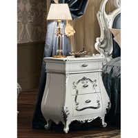 Lacquered solid wood bedside table with drawers 11211 Villa Venezia Collection by Modenese Gastone group