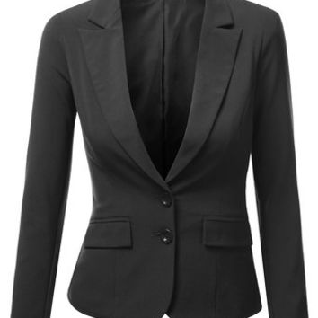 J.TOMSON Womens Form Fitting Boyfriend Blazer