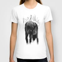 black dog T-shirt by tinydaggers