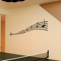 Music Notes Vinyl Wall Art Decal, Removable
