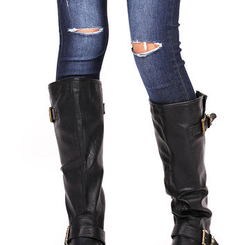Stud+Riot+Knee+High+Boots