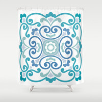 CUSTOM Shower Curtain,Choose Colors/Fonts/Tag,Add Monogram/Name,Moon Blue,Bathroom Decor,Bathroom Art,Standard Size/XL,Printed in USA