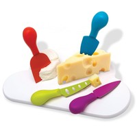 Cheese Cloud - Cheese Board & Set of 4 Knives