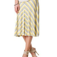 A Pea in the Pod: Self Belly Knee Length A-line Maternity Skirt