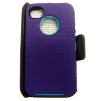 Otterbox Defender Case for Iphone 4S (Purple Silicone & Blue Plastic)