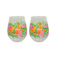 Lilly Pulitzer Stemless Acrylic Wine Glass Set