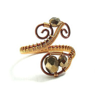 #Bronze #copper #ring #metal #glassring #autumn #jewelry #gift