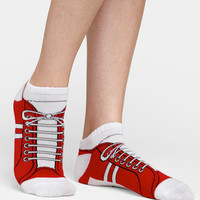 Red Sneaker Ankle Sock