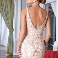 Sexy & Chic Deep Back Custom Made Dress C1284