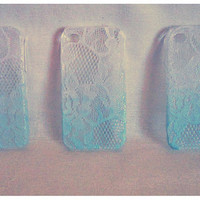 Ombre Iphone Lace Case Turquoise