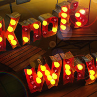 Vintage Marquee Art Outdoor Commercial Grade letter lights Heavy Duty