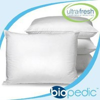 BIO PEDIC 205-Thread Count Antimicrobial UltraFresh Standard Pillows, Set of 4