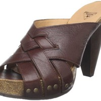 John Fluevog Women`s Curie Mule And Clog,Dark Brown,8.5 M US