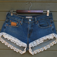 Lacey Day - Jean cut off shorts