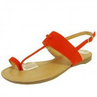 ORANGE SUMMER THONG SANDAL @ KiwiLook fashion