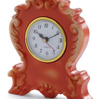 It's Never Too Ornate Clock in Orange | Mod Retro Vintage Electronics | ModCloth.com