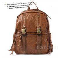 LEATHER BACKPACK,BOOKBAG,SCHOOLBAG,708