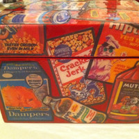 SALE- TAKE 15% OFF Wacky Packages Decoupage Wood Box, Red