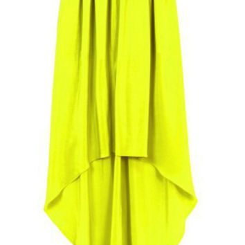 Oxygen | Cut 25 Washed Crepe De Shine Sulphur Skirt