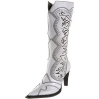 Luichiny Women`s City Nights Knee-High Boot,White,8 M US