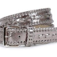 1 1/2` Metallic Braided Belt