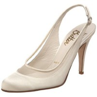 Bridal by Butter Women`s Callista-B Slingback,Ivory Satin/Mesh,9.5 M US