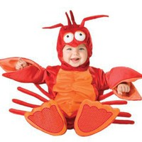 Lil Characters Unisex-baby Newborn Lobster Costume, Red/Orange, Small
