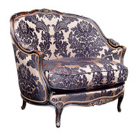 Louis XV Style Gondola Chair in Black Finish - $8,775.00 : Home Decor, Furniture, Lighting & Accessories, emonili.com