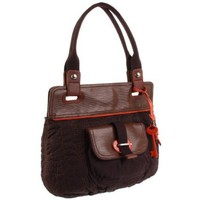 Fossil Key Per Tote,Brown,One Size