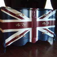 "French Provincial ""Waving"" Union Jack Dresser / Buffet"