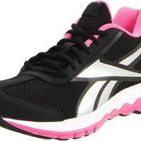 Reebok Women`s Reebok Fuel Techno Running Shoe,Black/Optimal Pink/Silver,10 M US