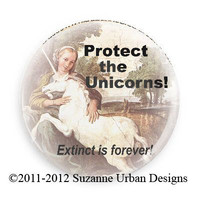 Save the Unicorn Magnet -Extinct is forever