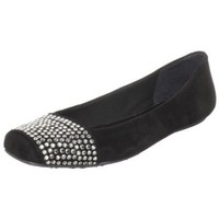 French Sole FS/NY Women`s Anya Ballet Flat,Black,9.5 M US