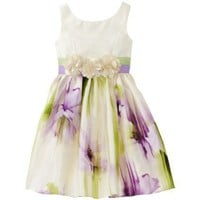 Sweet Heart Rose Girls 2-6x Sweet Heart Rose Watercolor Shantung Dress
