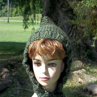 Pixie Hat Women, Elf Hat Knit, Pixie Bonnet Knit, Elf Bonnet Knit