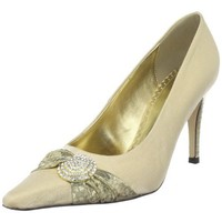 J.Renee Women`s Angela Pump,Gold,9.5 W US