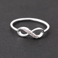 INFINITY ring in silver by bythecoco on Zibbet